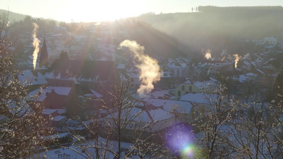 vue sur la ville de Houffalize